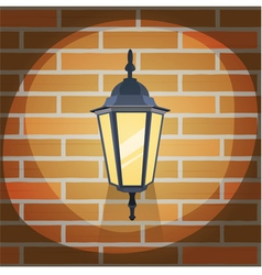 Lantern On The Wall vector