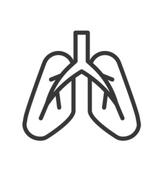 Lungs human organ related outline icon vector