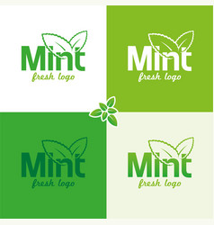 mint logo vector image