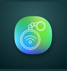 Nfc trinket app icon vector