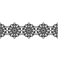 ornate decorative snowflakes on a white background vector image