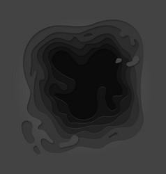 Papercut black layer paper cut pattern background vector