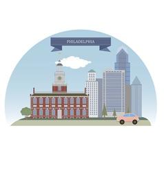 Philadelphia vector image