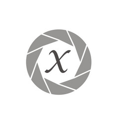 Photography service letter x vector