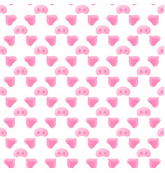 Pig s nose and ears festive seamless pattern for vector