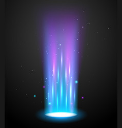 Portal light effect hologram magic circle vector