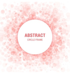 Red abstract circle frame design element vector