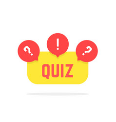 Red and yellow quiz button vector