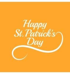 Saint Patricks Day Card Design vector image