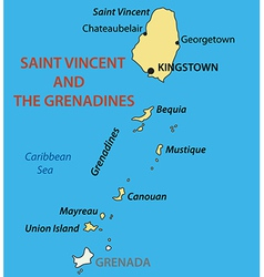 Saint Vincent and the Grenadines - map vector image