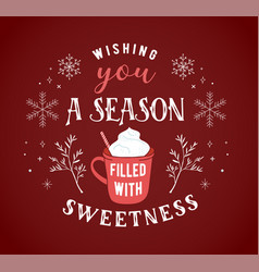 Scandinavian style simple and stylish merry vector
