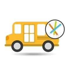 school bus colors icon graphic vector image
