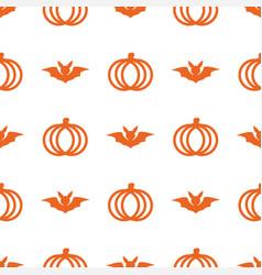 seamless cute pumpkin in halloween day on vector image