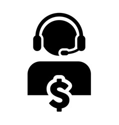Service icon dollar sign for banking and financial vector