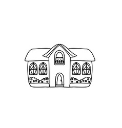 Sketch Doodle House vector image