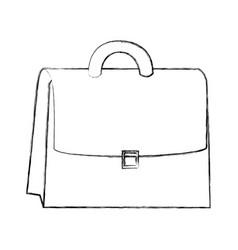 sketch draw suitcase cartoon vector image