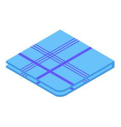 Soft handkerchief icon isometric style vector