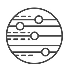 space planet icon outline style vector image