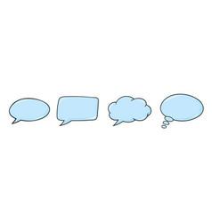 speech bubbles blue icons set vector image