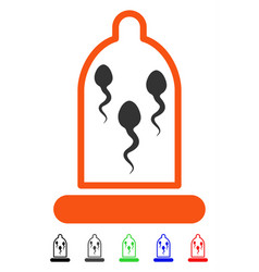 Sperm in condom flat icon vector