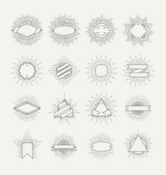 Stamp and badges collection different shapes and vector