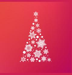 stock abstract christmas tree vector image