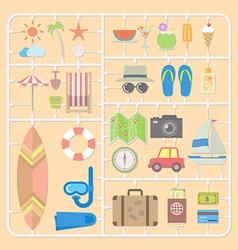 Summer tools model kits vector