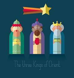 The three Kings of Orient wisemen vector image