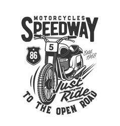 Tshirt print with racing off road bike sport team vector
