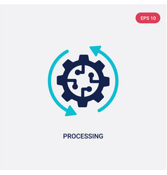 Two color processing icon from artificial vector