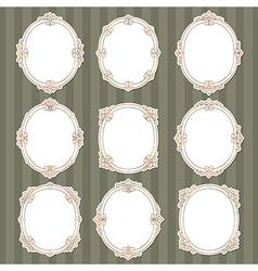 Vignette frames classic vector