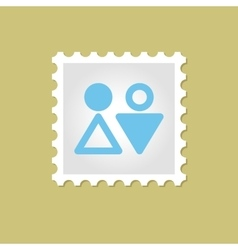 WC stamp vector