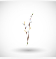 willow branch flat icon vector image