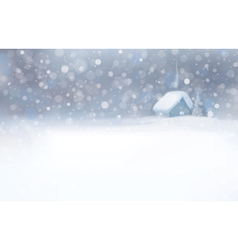 Winter house snowfall vector