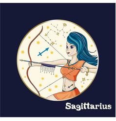 Zodiac girl sign vector