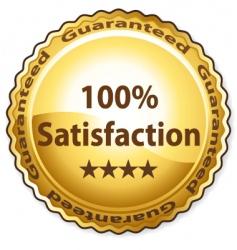 100 satisfaction vector image vector image