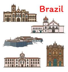 brazilian travel landmark icon of south america vector image vector image