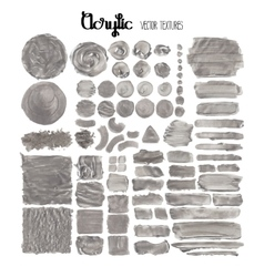 Collection of acrylic textures vector image vector image
