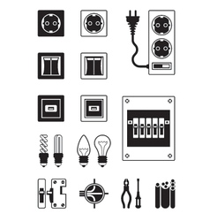 Electrical network devices vector image