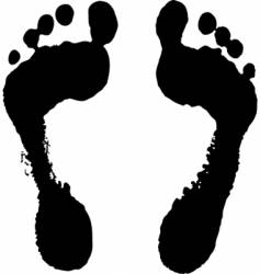 feet silhouette vector image