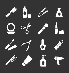 Set icons of beauty and cosmetics vector image