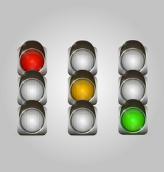 traffic lights set vector image