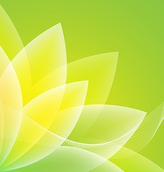 Abstract green flower background vector image vector image