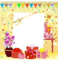 birthday invitation vector image vector image