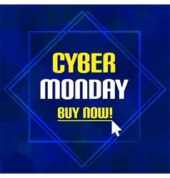 Cyber monday sale deep blue bubble background vector