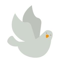 dove bird isolated icon vector image