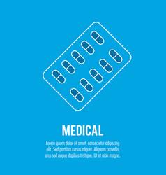 pharmacy pills medical health care vector image