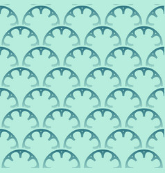 seamless turquoise pattern design vector image vector image