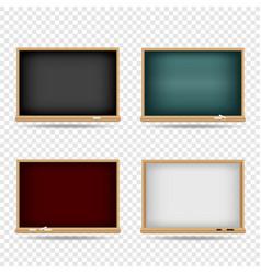 blackboard school template set vector image