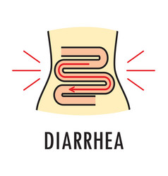diarrhea or food poisoning logo or icon vector image